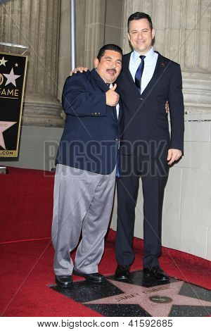 LOS ANGELES - JAN 25: Guillermo Rodriguez, Jimmy Kimmel at a ceremony where  Jimmy Kimmel is honored with a star on the Hollywood Walk of Fame on January 25, 2013 in Los Angeles, California