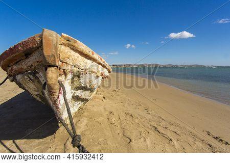 Colombia, Wild Coastal Desert Of Penisula La Guajira Near The Cabo De La Vela Resort. The Picture Pr