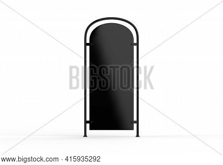 Pavement Signboard Mockup, Outdoor Advertising Pos Poi Stand Banner Mock Up Template On Isolated Whi