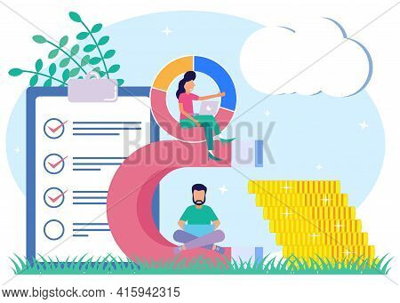 Modern Style Vector Illustration, Attract Investment Concept, Success Magnet, Coin Money Attraction.