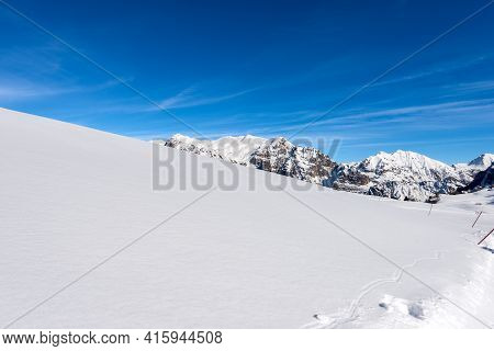 Lessinia Plateau (altopiano Della Lessinia) Regional Natural Park And The Carega Mountain (monte Car