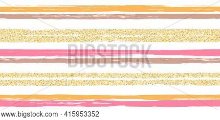 Lines Brush Stroke Stripes Summer Seamless Pattern
