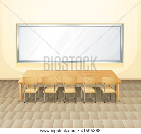 Illustration of an empty meeting room