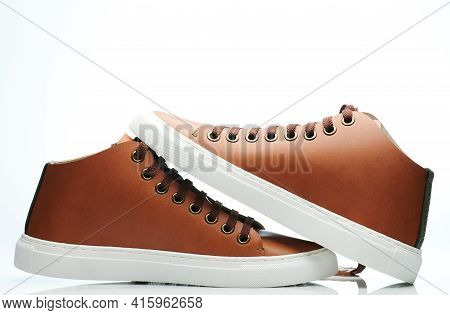 Pair Of New Brown Sneaker Shoes