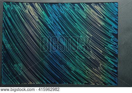 Colorful Lines On Tablet Screen