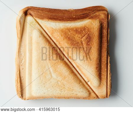 Brown Slice Sandwich  Above Top View Isolated