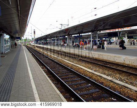 The Train Station In Vienna Center, Austria