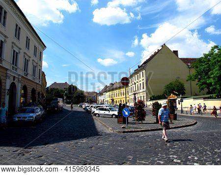 Budapest, Hungary - 12 Jun 2011: The Street In Budapest, Hungary