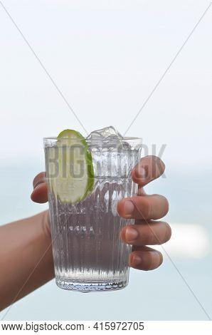Lemon Soda Or Tonic, Soda Or Cocktail Or Italian Soda
