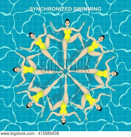Synchronized Swimming. Speech Athletes, Synchronized Swimmers. Extreme Sports Active Lifestyle