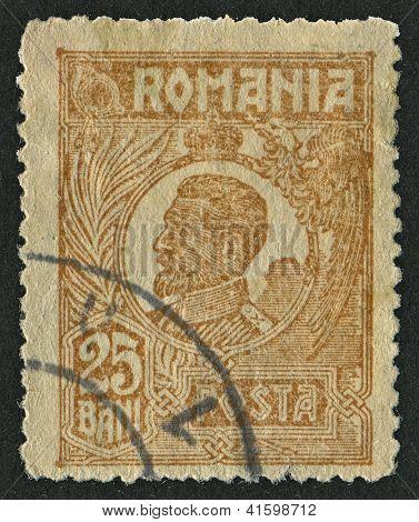 ROMANIA - CIRCA 1921: Postage stamps dedicated to Ferdinand (1861 - 1948), Bulgarian tsar, botanist, entomologist and philatelist, circa 1921.