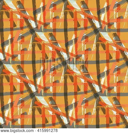 Vector Braid Effect Weave Seamless Interlace Pattern Background. Macrame Style Ribbon Plait Lattice