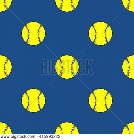 Seamless Pattern Of The Baseball Softball Balls