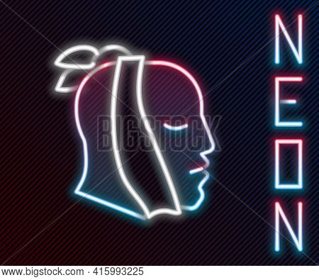 Glowing Neon Line Toothache Icon Isolated On Black Background. Colorful Outline Concept. Vector