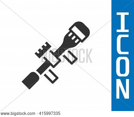Grey Sniper Optical Sight Icon Isolated On White Background. Sniper Scope Crosshairs. Vector