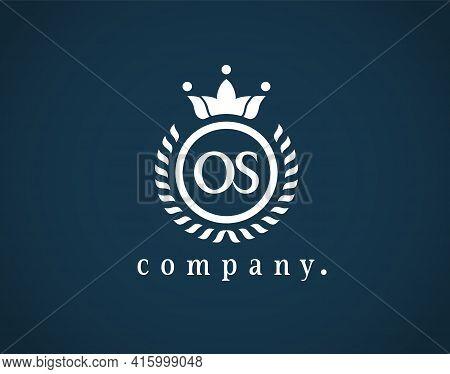 Beautiful Calligraphy Letter  Os, So, O Or S Emblem For Logo, Card, Badge, Antique, Restaurant, Cafe