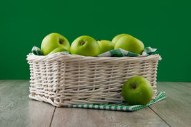 Green Apples On Emerald