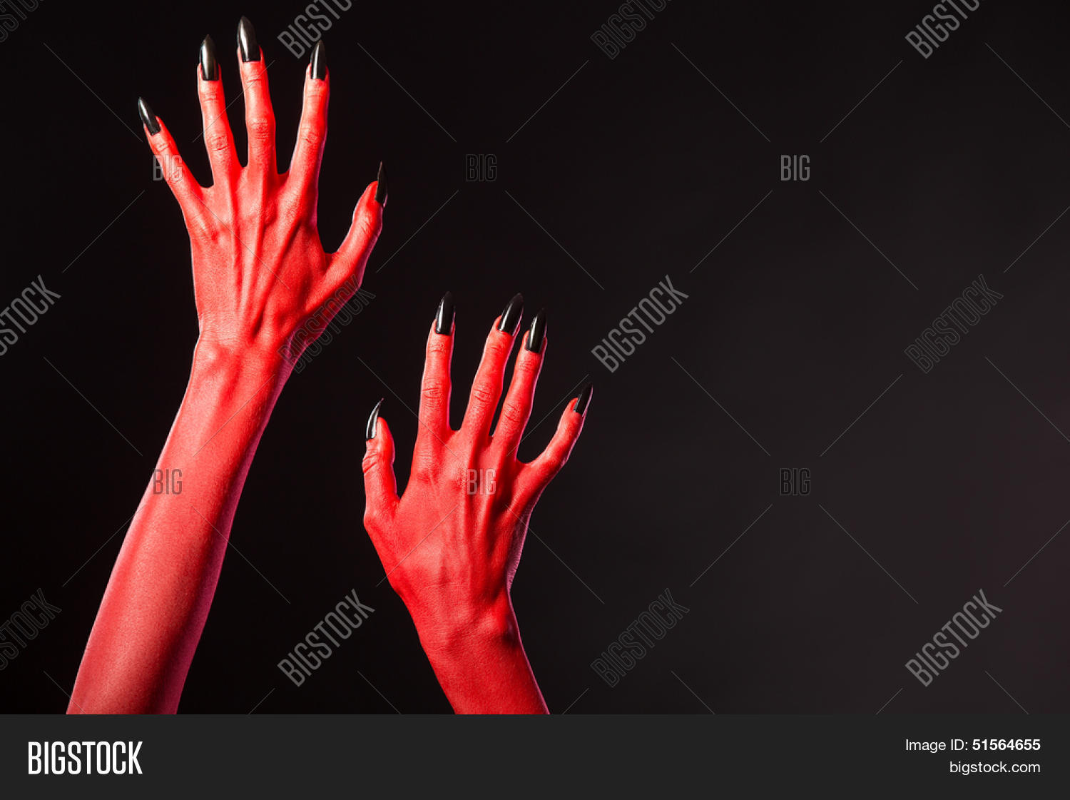 red devil hands black image photo free trial bigstock