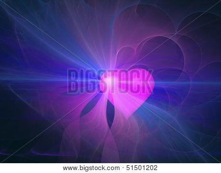 Abstract Heart Aura