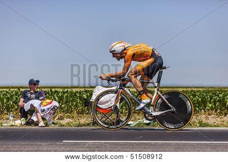 The Cyclist Juan Jose Oroz Ugalde