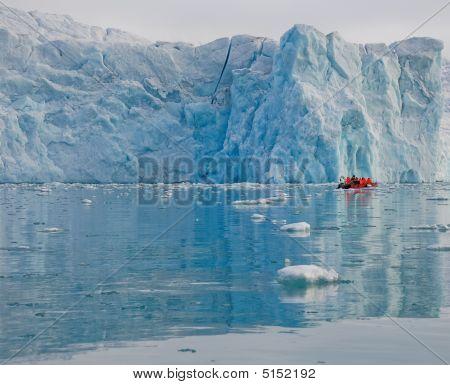 Boat Near Glacier