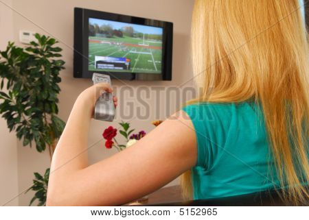Young Lady With Remote