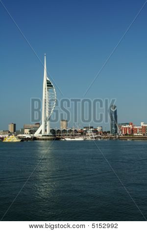 Portsmouth's Spinnaker Tower, From Across The Harbour