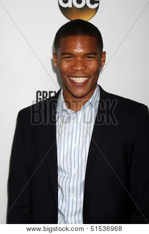 LOS ANGELES - SEP 28:  Gaius Charles at the Grey's Anatomy 200th Show Party at The Colony on September 28, 2013 in Los Angeles, CA