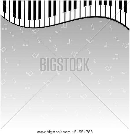 Piano Keys On A Gray Background