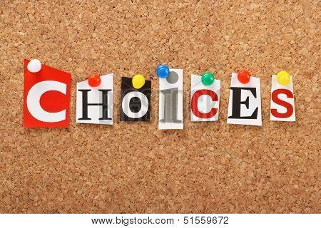 The word Choices