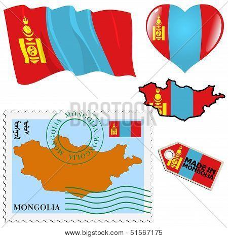 National Colours Of Mongolia