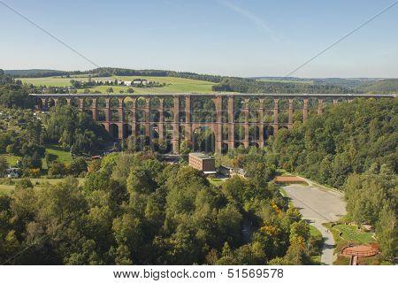 Aeriel View To Goltzsch Viaduct