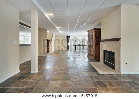 Basement In Luxury Home