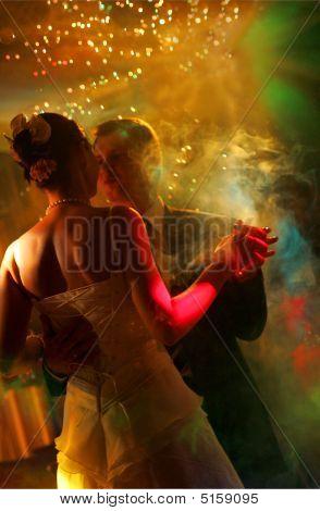 Newlywed Couple Dancing