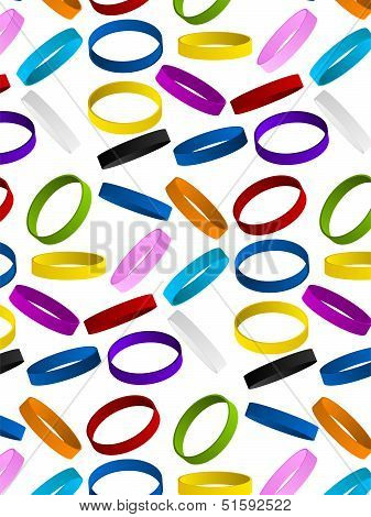 Rubber Wristband Bracelet Seamless Pattern Background
