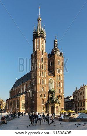 Church St. Mary's In Krakow, Lesser Poland.