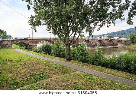 Ancient Roman Bridge In Trier