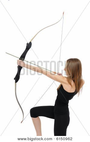 Archery - Kneeling Woman With Bow