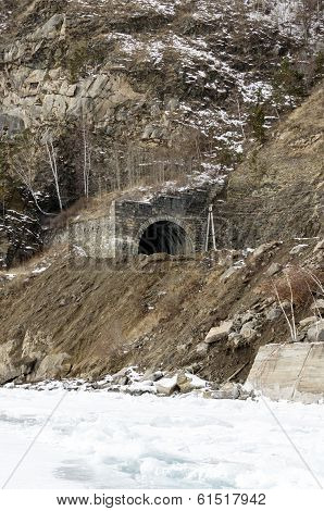 One of the stone tunnels on Circum-Baikal Railway
