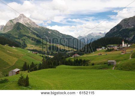 Idyllic Alpine Village In Austria