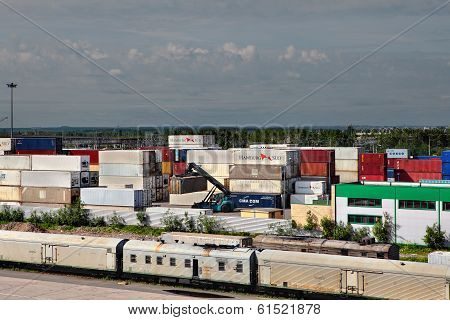 Storage Of Cargo Containers, Container Depot.