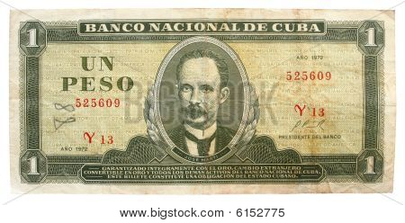 Kuuban Peso valuutan 1972