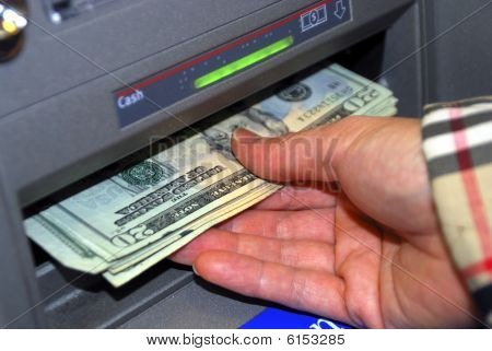 Withdraw some money from the ATM machine