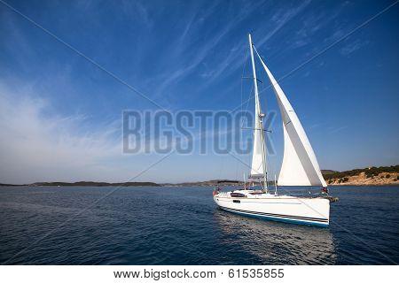 Yachting. Sailing. Luxury yacht.