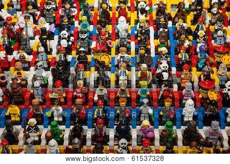 Lego Minifigures At Cartoomics 2014 In Milan, Italy