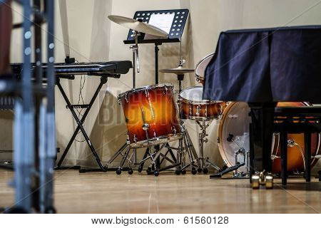 Drumkit And Other Jazz Instruments