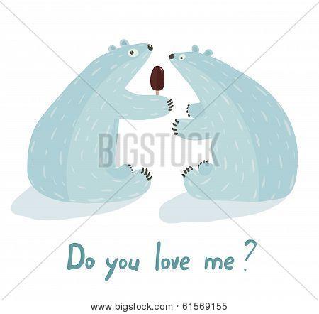Polar Bears Love and Ice Cream