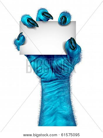 Blue Monster Hand