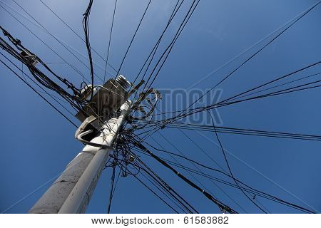 Messy Electric Post Wires