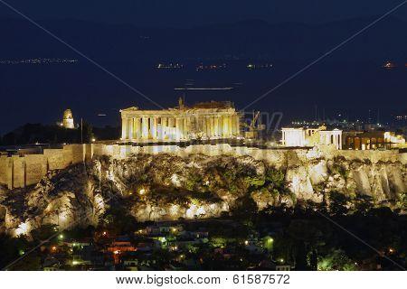 Parthenon on Acropolis of Athens Greece